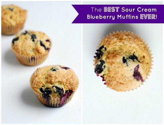 The Best Sour Cream Blueberry Muffin Recipe Ever! | Spelt ...