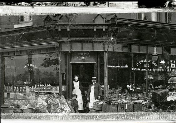 #Didsbury #Manchester  George Charles' second shop, on the corner of Nell Lane and Burton Road, c.1910 (GB124.DPA/1802/2)  George Charles' second shop, on the corner of Nell Lane and Burton Road. Telephone number: Didsbury 1108. Donor's father right; woman on left unknown; donor in centre aged 3 or 4. c.1910. The business moved to Lapwing Lane in the 1920s.  more: https://www.flickr.com/photos/manchesterarchiveplus/5211483864/in/set-72157628510542887: