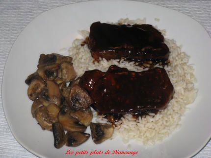 Côtelettes de porc sauce chinoise  les côtelettes sont très tendre et savoureuse, elles goûtent les côtes levées des restos chinois