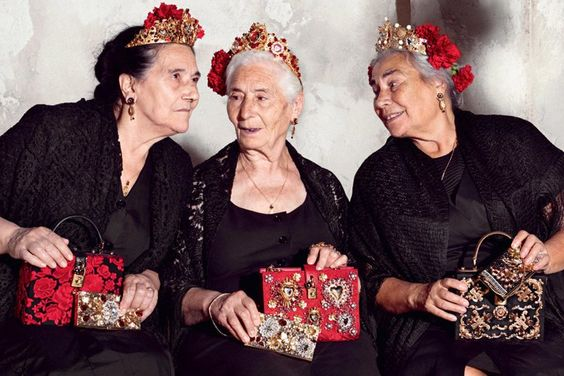 """Pin for Later: The Most WTF Moments From the Spring '15 Campaigns Dolce & Gabbana """"You'll never believe what Magda wore to the market this morning."""""""