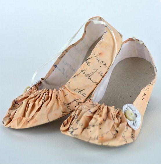 Baletas-Ballets flats.  Artista Jennifer Collier  #Reciclaje #Arte