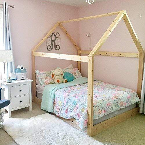 Amazon Com House Bed Frame Full Size Premium Wood Handmade