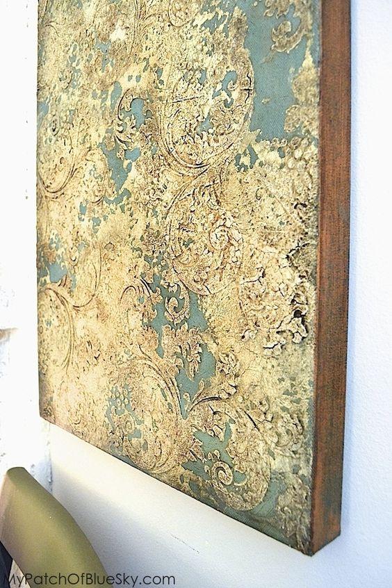 Valuable Asian canvas foil art