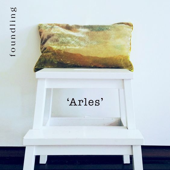 foundling artwork for chairs..our gallery range of pure silk velvet cushions is on sale now - check out 'Arles' .. an oil landscape of Van Gogh's favoured residence in France..www.foundling.com.au