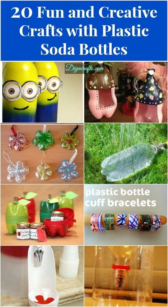 20 fun and creative crafts with plastic soda bottles for Things to do with plastic bottles