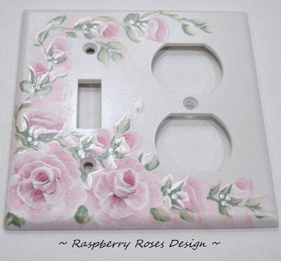 The RASPBERRY ROSES Design Handpainted Roses by IrishArtStudio, $7.99