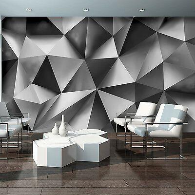 Vlies Fototapete Abstraktion Kunst Geometrie 3d Wand Grau Tapete Wandtapete Xxl Eur 44 90 Picclick De In 2020 Tapeten Fototapete Zimmer