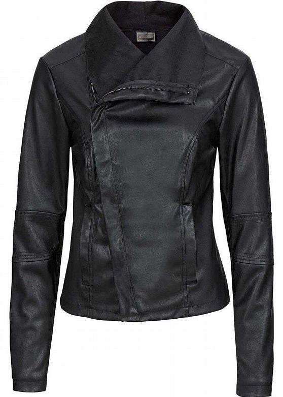 Damen Kunst Lederjacke Biker Jacke Schwarz NEW@buy.2