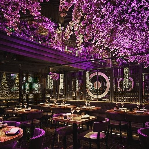 The Noteworthy Interior Of Tattu Restaurant In Leeds Designed By Edwin Design This Restaurant Design Concepts Cafe Interior Design Restaurant Interior Colors