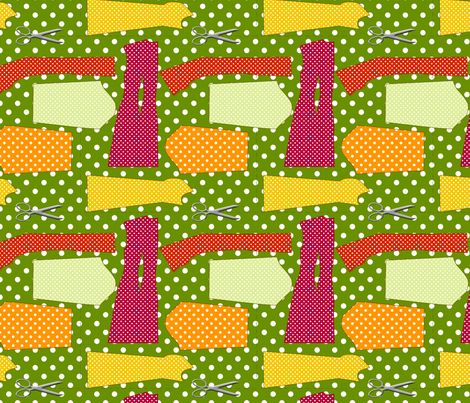 couture oh patron couture vert fabric by nadja_petremand on Spoonflower - custom fabric