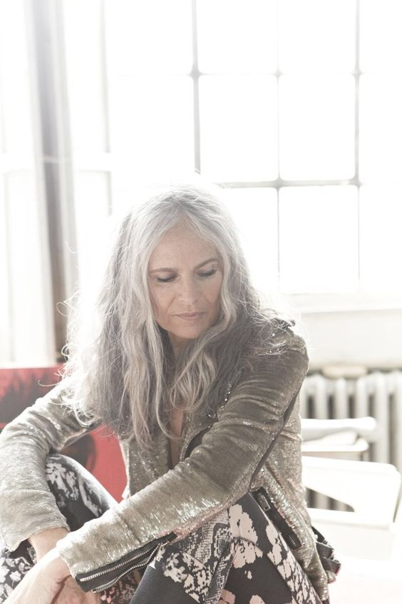 it goes against everything I thought I would want, but I love long gray hair…