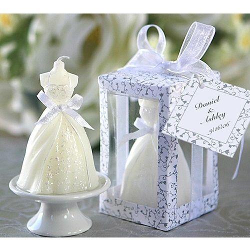 Elegant new wedding dress candle