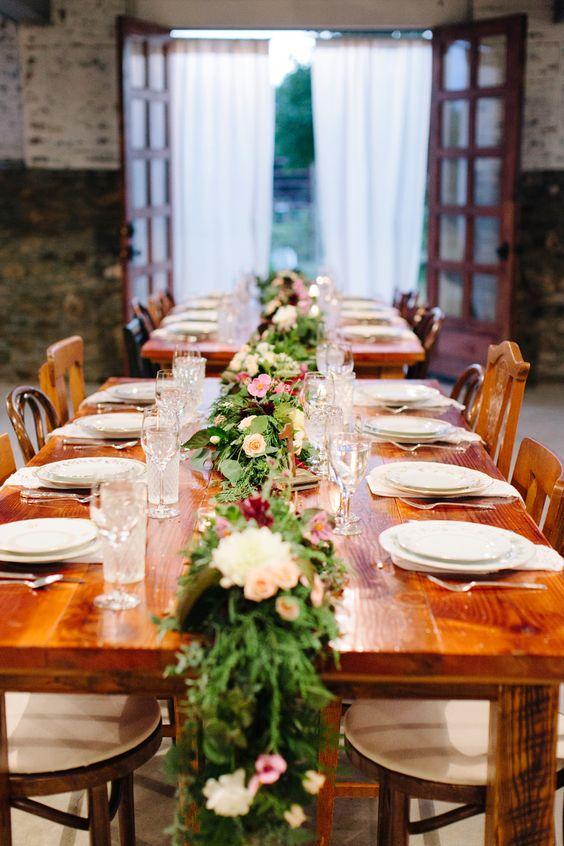 wedding table greens //