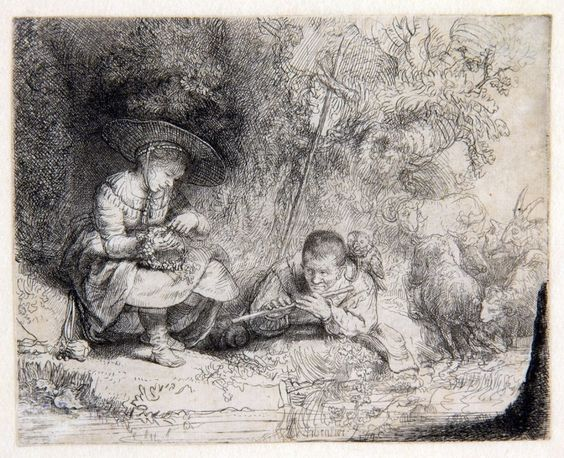 Rembrandt+-+De+fluitspeler,+1642