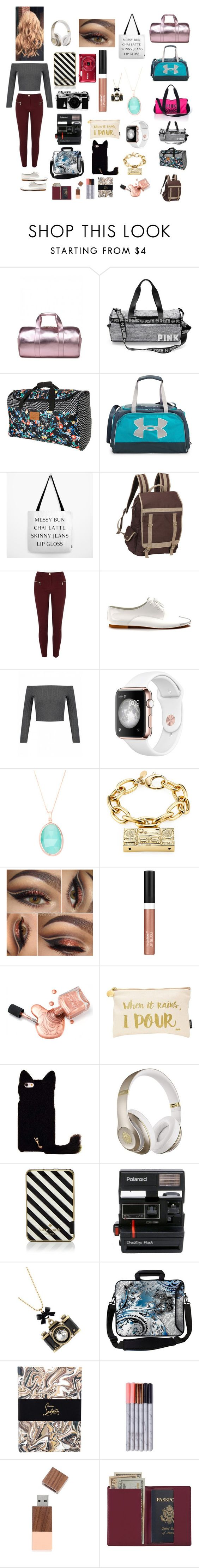 """""""Chloe Bennet (reporter)"""" by karabear3256 ❤ liked on Polyvore featuring Billabong, Under Armour, Preferred Nation, River Island, Shoes of Prey, Moschino, Wet n Wild, Nails Inc., Beats by Dr. Dre and Kate Spade"""