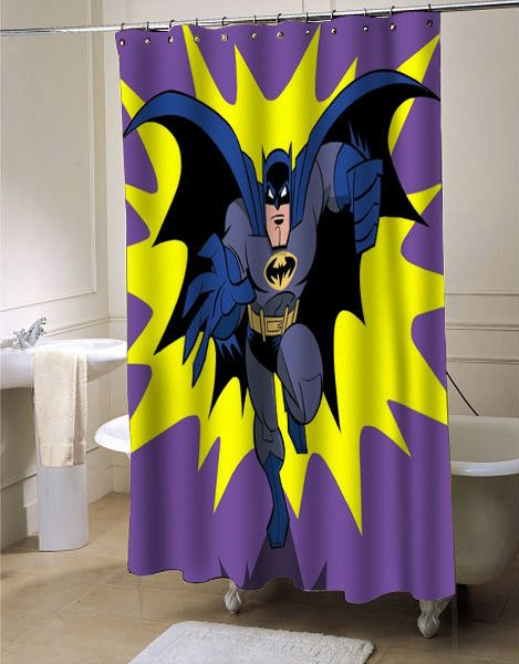 Batman Old Retro Shower Curtain #showercurtain #batman