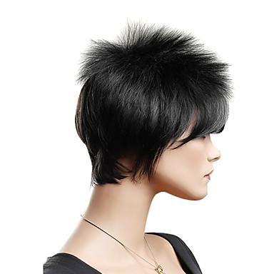 Capless High Quality Synthetic Fashion Short Black Lady's Wig*free ship