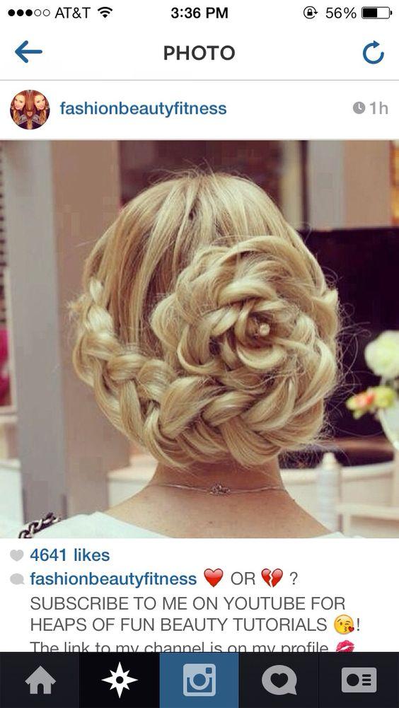 flower braided bun