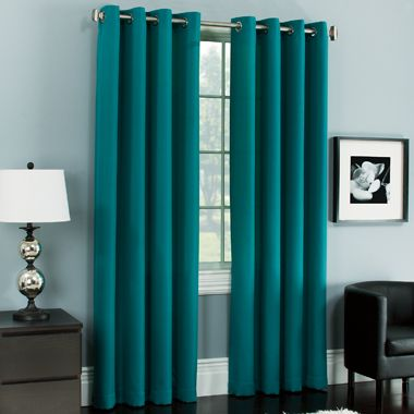 Teal Curtains   Living Room   Pinterest   A well, Patio and ...