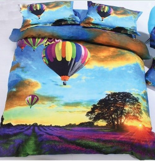 Hot Air Balloon 3d Bed Sheets For Double Bed Bed Sheets