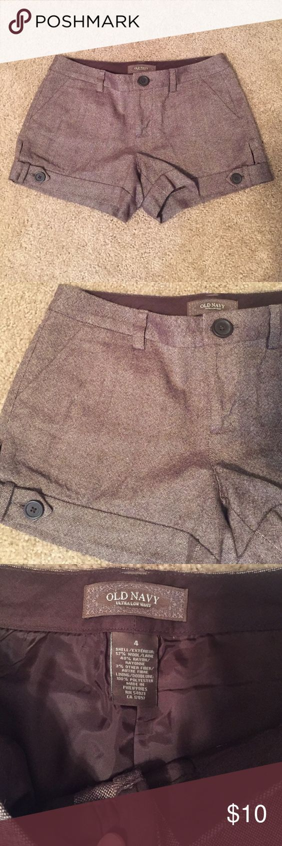 *Last chance* Old Navy Shorts Brown Old Navy shorts. Super cute. Size 4. Can be worn dressy or casual. Worn once. In great shape. Old Navy Shorts