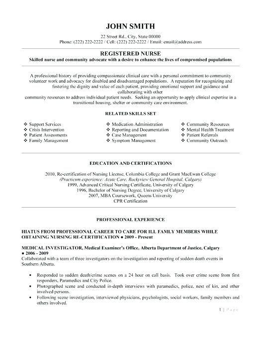 Free Resume Templates Registered Nurse Freeresumetemplates Nurse Registered Resu Nursing Resume Template Registered Nurse Resume Nursing Resume Examples