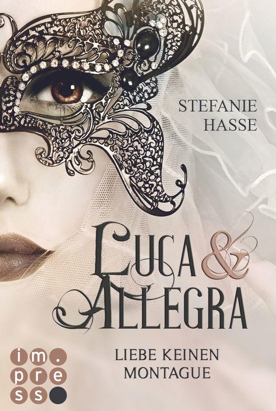 """""""Luca und Allegra. Liebe keinen Montague"""" von Stefanie Hasse Maskenbälle, unsternbedrohte Familiengeschichten und verfluchte Liebespaare kennt Allegra höchstens aus ganz alten Büchern, aber mit der Realität haben sie für sie nichts zu tun. Das ändert sich grundlegend, als sie bei einem Kurzurlaub am Gardasee erfährt, dass ihr Hotel von Nachfahren der Capulets geführt wird. Anscheinend ist ihre Fehde mit den Montagues auch nach Jahrhunderten noch intakt."""
