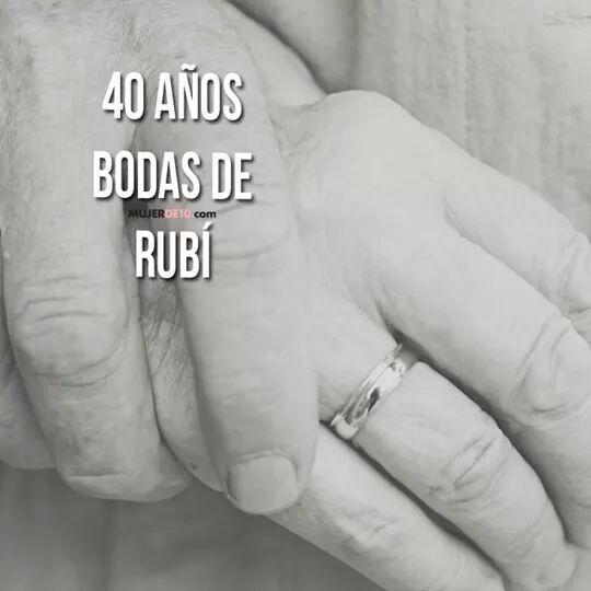 su Personalizado Hecho a Mano 40th Tarjeta De Aniversario De Bodas-Ruby él para ellos