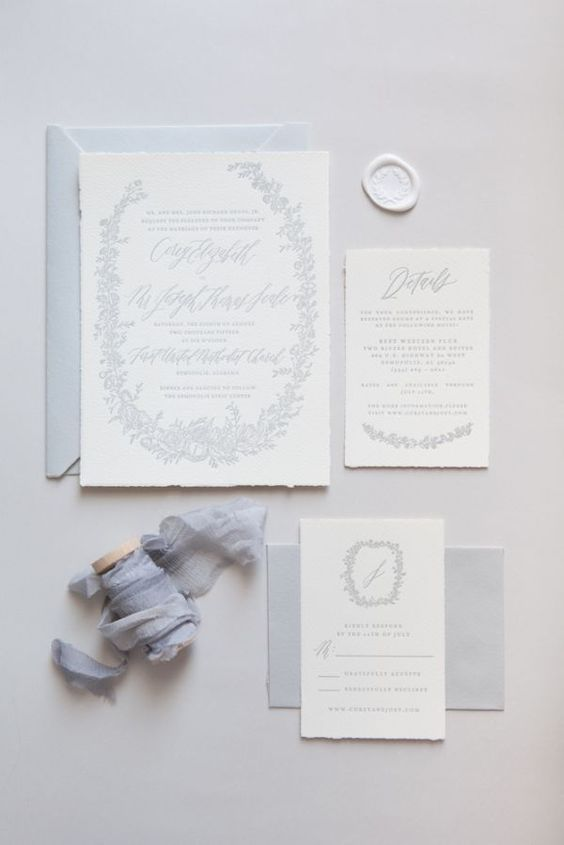 Wedding Invitations With Elegant Calligraphy Romantic