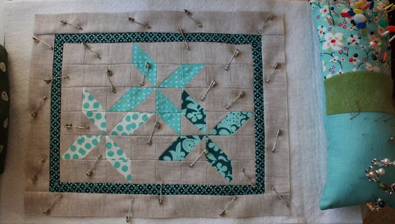 https://flic.kr/p/bns1oC | Quilty Time | Pinned and ready to quilt! Thoughts on…