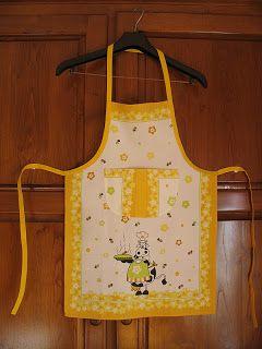 Agulhas Soltas - Artesanato em Geral: Pano de cozinha transformado em avental