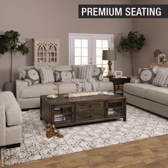 Paula Sofa Loveseat In Linen Jerome S Furniture Living Room