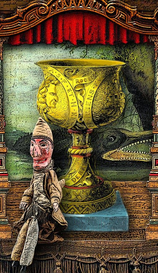 The Tarot of Mister Punch: The Ace of Cups - If you love Tarot, visit me at www.WhiteRabbitTarot.com