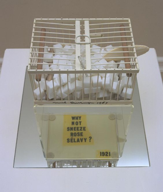 Marcel Duchamp 'Why Not Sneeze Rose Sélavy?', 1921, replica 1964 © Succession Marcel Duchamp/ADAGP, Paris and DACS, London 2016