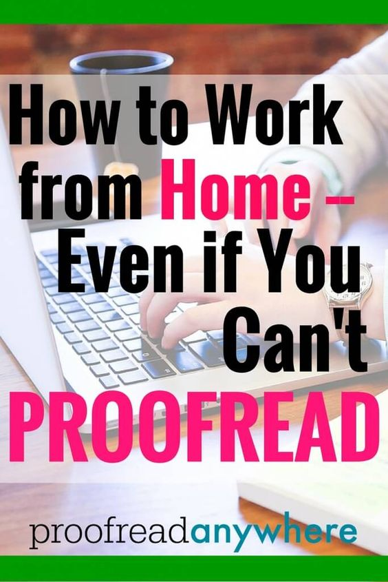 proofreading from home
