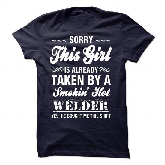 [Cute Tshirt,Tshirt Necklace] LTD - This girl is already taken Welder. BUY TODAY AND SAVE => https://www.sunfrog.com/Valentines/LTD--This-girl-is-already-taken-Welder-90833375-Guys.html?id=68278