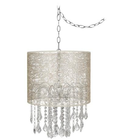 "nicolli clear 14"" wide transparent fiber mini chandelier 
