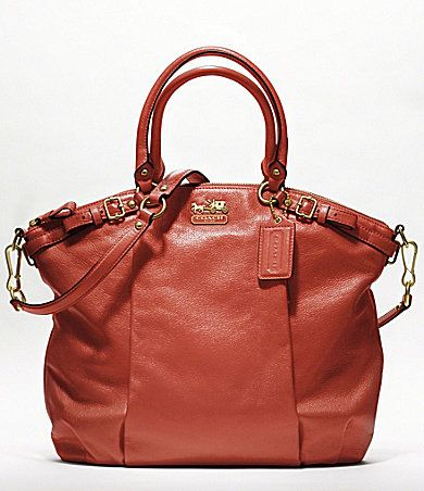 Coach Madison Leather Lindsey Satchel- Terracotta
