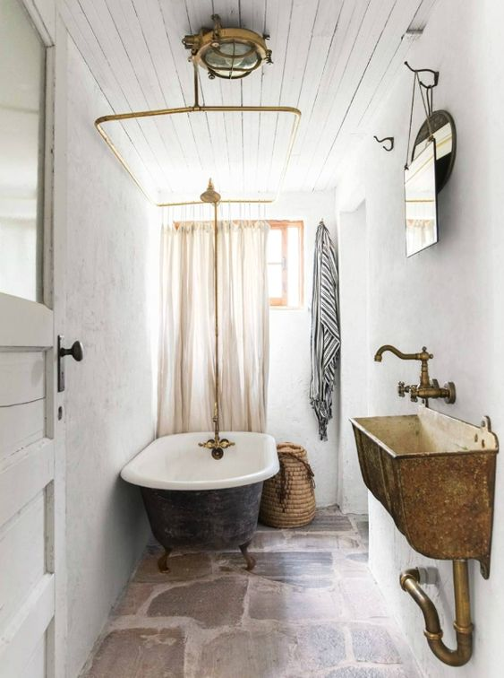 If it is a small bathroom, the use of mirrors can help you enlarge it.