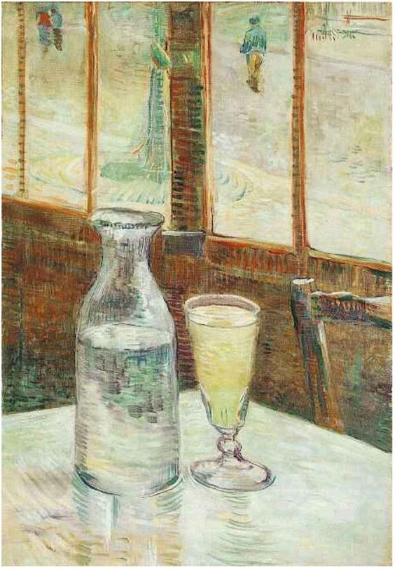 Vincent van Gogh Painting, Oil on Canvas Paris: Spring, 1887 Van Gogh Museum Amsterdam, The Netherlands, Europe F: 339, JH: 1238 Van Gogh: Still Life with Absinthe Van Gogh Gallery: