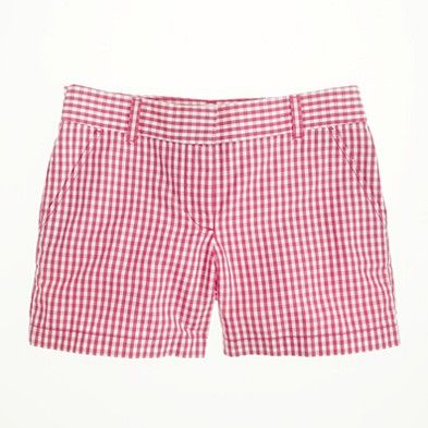 j crew gingham shorts