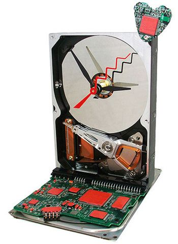 """Computer Hard Drive Clock- """"Our Love Can Stand the Test of Time"""""""