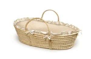 I had a moses basket like this for my baby 34 years ago, without the insert. I had a one inch foam mattress and a lambskin in it.