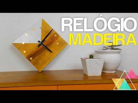 RELÓGIO DE MADEIRA | DIY #clubedacasa - YouTube