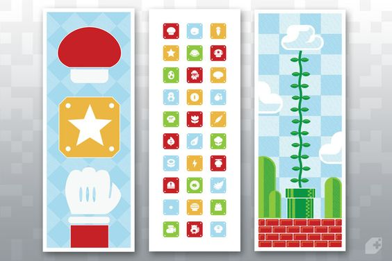 Super Mario posters from Fangamer