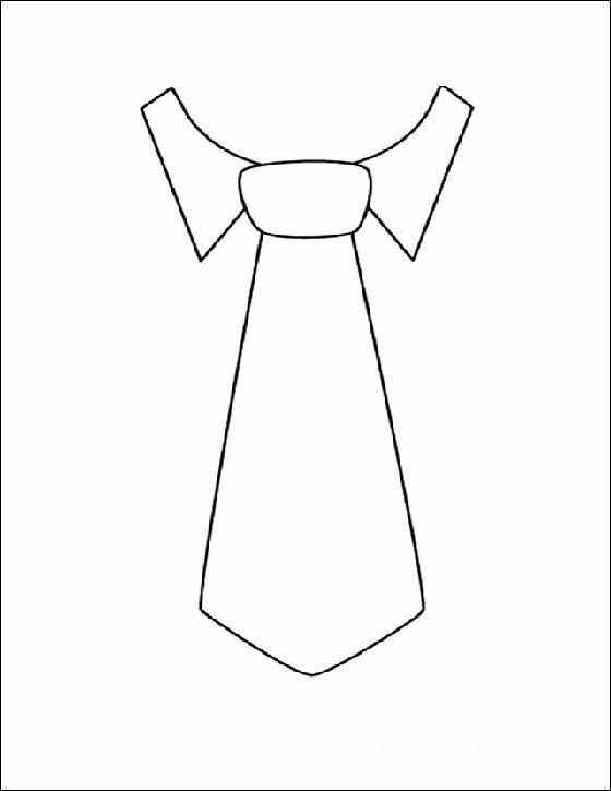 Corbata Dibujo Para Colorear Dibujos