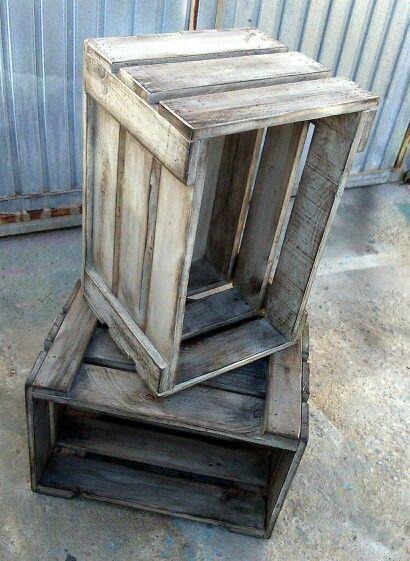 Caja de Fruta Mueble con Madera de Palets Estilo industrial
