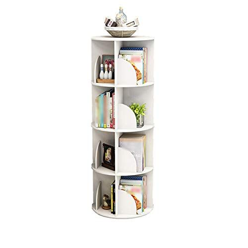 Qixian Shelves Organizer For Books Bookcase Bookshelf Ends Floor Standing 360 Rotating Corner Bookcase Chil Large Storage Cabinets Bookcase Creative Bookcases