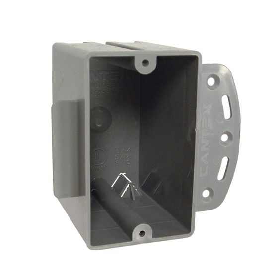 Single Gang Square Non-Metallic Cable Box, 2-27/32 in. Deep (100-Pack)