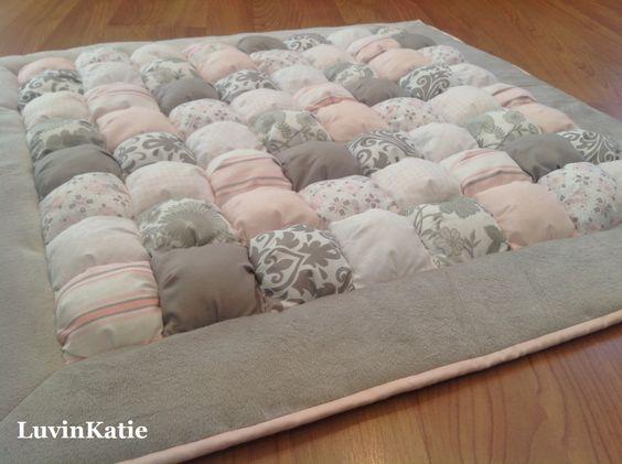 Baby floor time bubble quilt puff quilt biscuit quilt for Floor quilt for babies